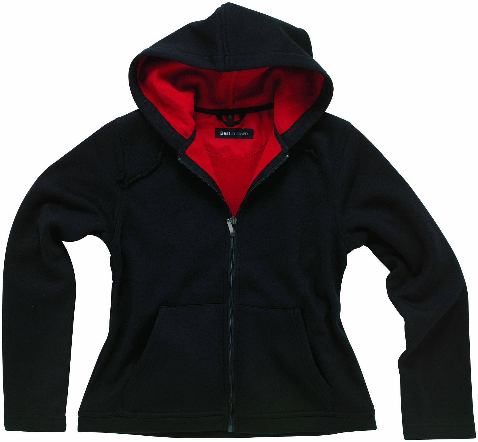 Hanorac Best In Town- Trainer Fleece Dama negru/rosu